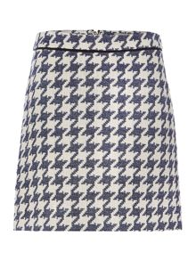 Marella Ovest houndstooth check mini skirt