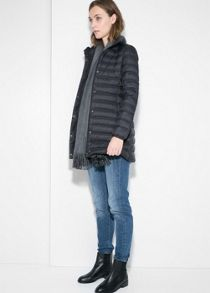 Foldable feather down coat