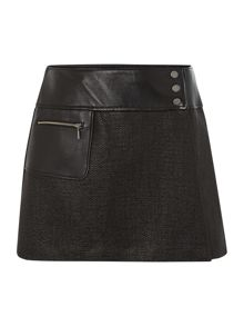 International Wrap leather panel Blade skirt
