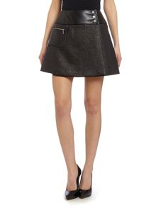 Barbour International Wrap leather panel Blade skirt