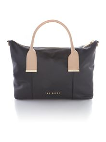 Artemis black large metal bar tote bag