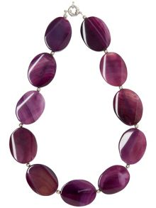 Lila stone necklace