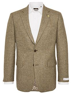Plain Notch Collar Tailored Fit Formal Blazer