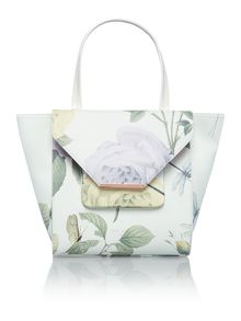 Mint distinguished rose large tote bag