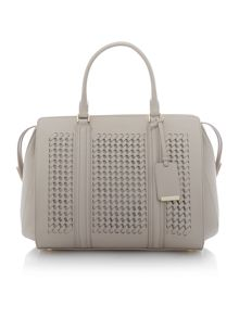 Berlin neutral woven large tote bag