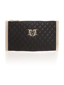 Black cross body quilt clutch bag