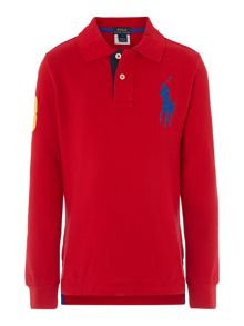 Boys big pony mesh polo