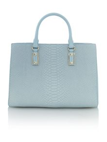 Mila blue snake square tote bag