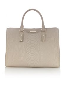 Mila neutral snake square tote bag