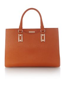 Mila orange square tote bag