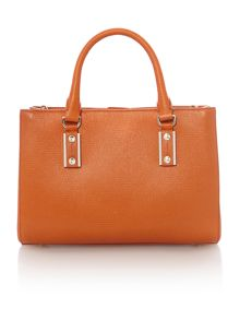 Missi orange small square tote bag