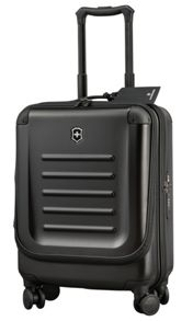Spectra dual-access cabin-size travel case black