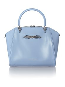 Pale blue small cross hatch cross body bag