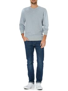 Criminal Owen Stripe Crew Neck Jumper