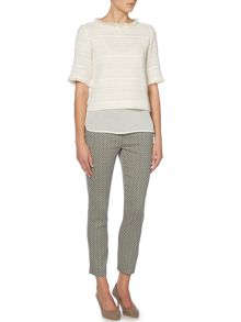 Cenere boucle sheer layer top