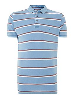 Men's French Connection Bleached Stripe Regular Fit Polo