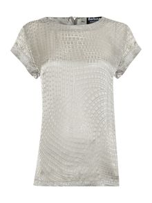 Barbour International India silk burnour tunic top