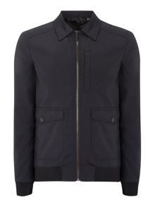 Brooks Black Collared Bomber Jacket