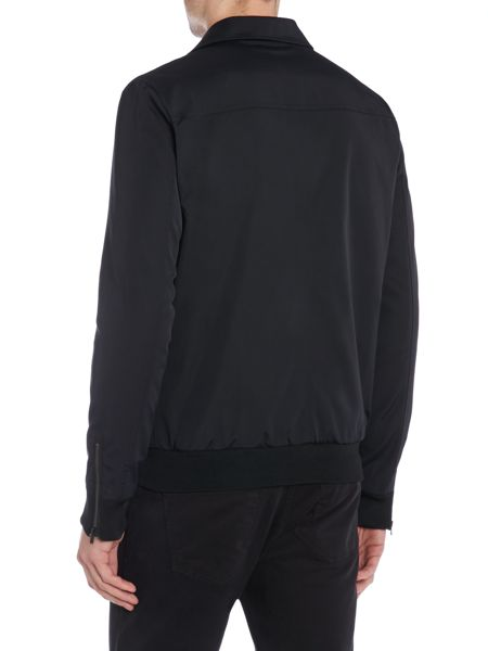 Kenneth Cole Brooks Black Collared Bomber Jacket