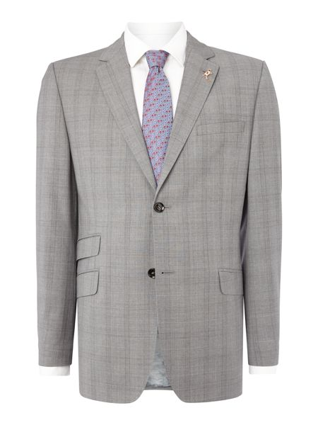 Ted Baker Env Pale Check Slim Fit Suit Jacket