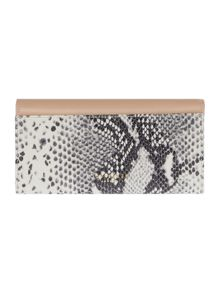 Taupe large snake flapover purse