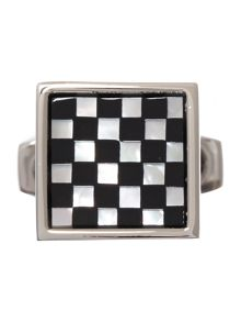 Small square checkers cufflink