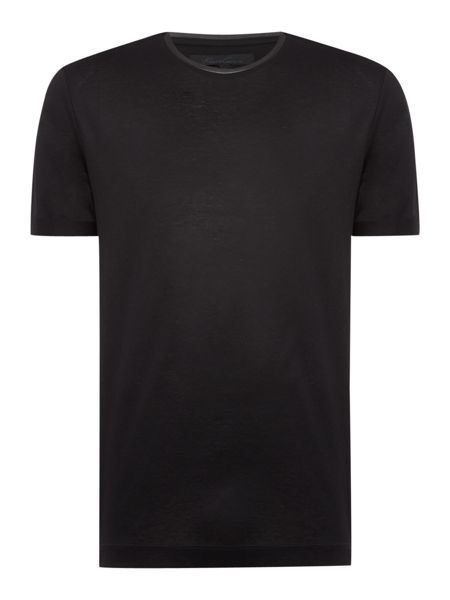 Kenneth Cole Parker Jersey T-Shirt with PU leather