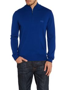 3/4 zip lambswool jumper
