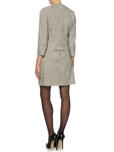 Marella Striped boucle zip front jacket