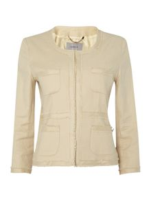 Marella Egisto long sleeve fray detail jacket