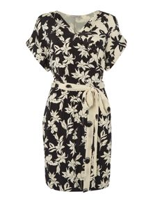 Marella Filato floral jersey wrap dress