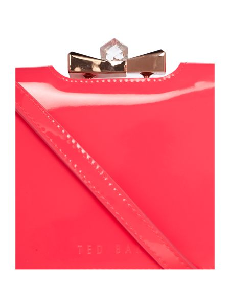 Ted Baker Bright pink large crystal top cross body purse