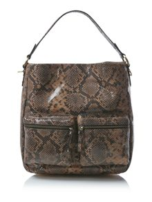 Beamish multi coloured snake hobo bag