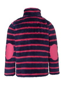 Girls stripe fleece funnel sweat