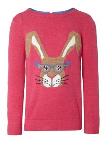 Girls bunny specs jumper