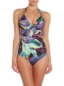 Summer Tropics large cup tummy control swimsuit