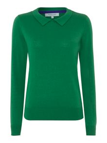 Collar knit jumper