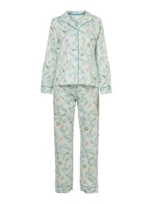 Woodland print cotton sateen pyjama set