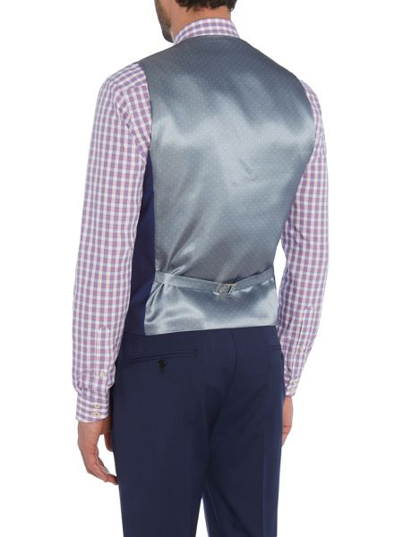 Ted Baker Cadi Slim Fit Bright Blue Solid Waistcoat