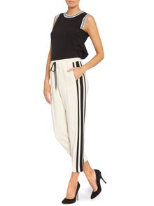 Side stripe tailored jogger trousers