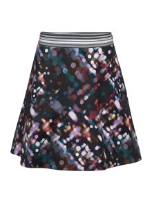 Multi print aline skirt