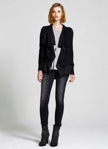 Charcoal Double Layer Cardigan