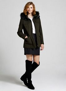 Khaki Hooded Coat