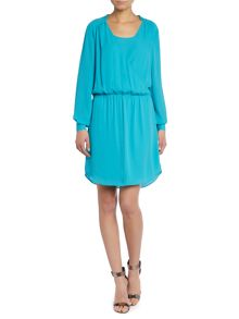 Longsleeve crossover front dress