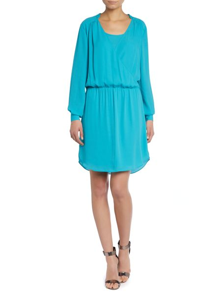 Vince Camuto Longsleeve crossover front dress