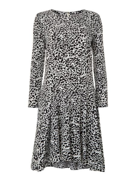 Vince Camuto Longsleeve animal print dress