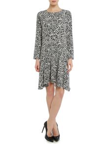 Longsleeve animal print dress