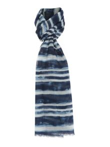 Hand Painted Stripe Scarf