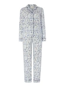 Baroque cotton sateen pj set