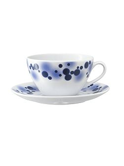 LSA Ink Tea/Coffee Cup & Saucer 0.22L Indigo